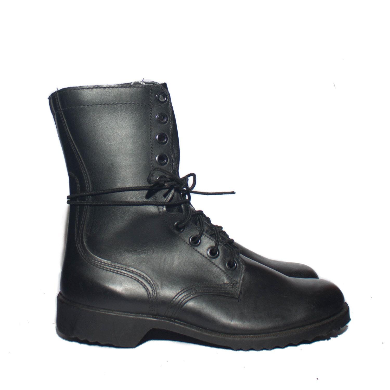9 5 w s 1970 s vintage combat boots black