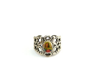 Miraculous Medal Ring Mary Ring Catholic Ring Adjustable