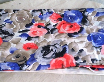 Floral Cotton Fabric Yardage Cranston VIP Floral Fabric Water Color Look Dress Fabric Quilt Fabric over 4 yards one Price