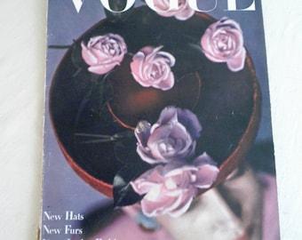 August 1, 1944 Vogue Magazine Vintage Original and Complete WWII Interest