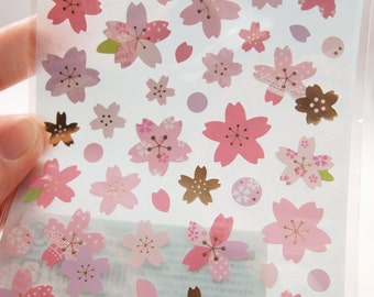 Japanese Cherry Blossoms / Plum Flower Sticker (1 Sheet)