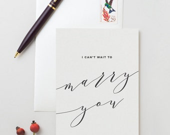 I Can't Wait To Marry You Card - To My Groom