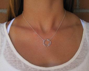 Silver Clover Pendant Necklace - Silver Necklace - Silver Pendant Necklace