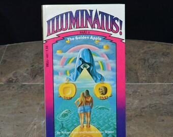 Illuminatus! Part II The Golden Apple - 1975 1st Edition - Robert Anton Wilson - Illuminati / New World Order / Conspiracy / Discordian