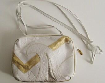 Vintage Crossbody Bag / Vintage Sharif Crossbody Bag / Small Patchwork Bag / 1980s bag