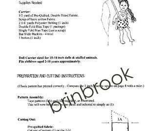 PDF Pattern Doll Carrier