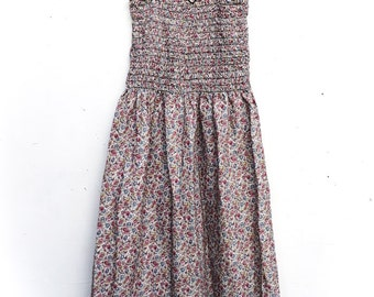 built by wendy floral cotton 90's dress small
