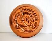 Vintage Copper Turkey Mold Italy