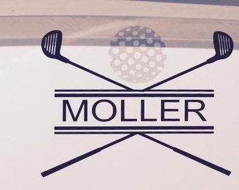 Golf Cart Vinyl Decal
