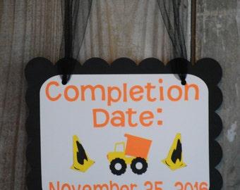 Construction Baby Shower Door Sign, Construction baby Shower, Dump Truck Baby Shower
