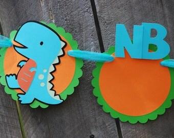 Dinosaur Birthday Party Photo Banner/ Dino Photo Banner