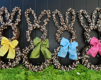 Mini Bunny Wreath - Bunny Wreath - Small Wreath - Easter Wreath