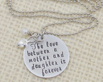 Personalized Necklace - Hand Stamped Jewelry - Mom Necklace