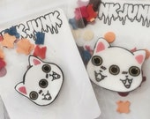 Best Friends Meow and Forever Brooch Set