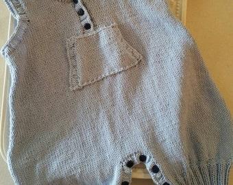 Knitted V- Neck Onesie