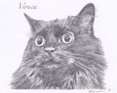 "Custom Portrait 5x7"" - Sketch From Your Photo - Pet or Person"