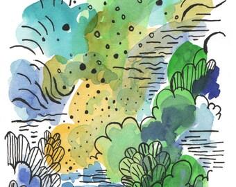 Watercolor download. Printable Abstract Art. Printable watercolor. Abstract printable art. Digital watercolor. Downloadable prints