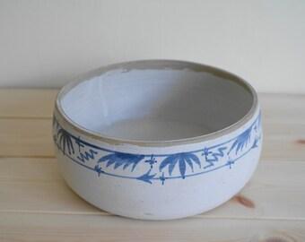 Blue and White Pottery Dish - Fruit Bowl, Studio Ceramics