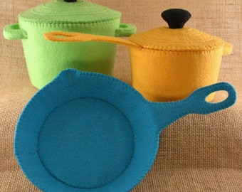 Felt Food Pots and Pans Sewing Pattern