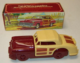 Father's Day Special - Avon 1948 CHRYSLER TOWN and COUNTRY Automobile Decanter with Full Bottle of Wild Country After Shave in Original Box