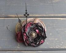 Steampunk Gear Fasciantor Steampunk Flower Fasinator Steampunk Wedding Facinator Steampunk Costumes Steampunk Hat Clip
