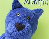 Midnight - cat softie pattern (digital PDF pattern)