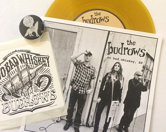 """The Budrows - """"No Bad Whiskey, Ep"""" - Beer Colored Vinyl"""