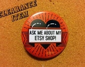 Discounted Etsy shop button | Inventory Sale Clearance