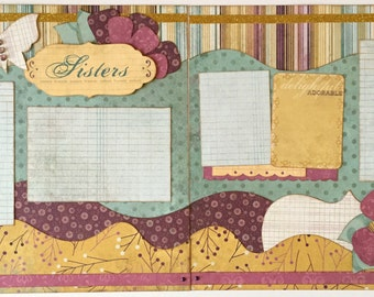 Sisters Premade 2 Page 12x12 Scrapbook Layout