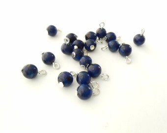 Natural Lapis Lazuli Gemstone Dangle Beads