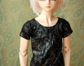 BJD Black And Silver Crackle T Shirt For SD17 Super Gem - Free Shipping
