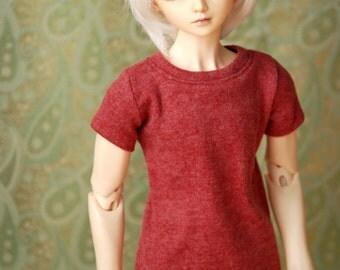Super Gem Red Marle T Shirt For 70cm BJD