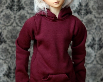 Super Gem Maroon Hoodie For SD BJD