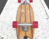 cruiser skateboard handmade from recycled shipping crates