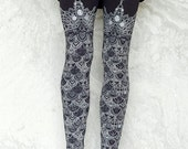 Ophelias Armor Leggings  - Black Dragon Scale Legging - Mermaid scale legging thigh high legging