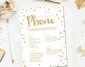 Pink and Gold Baby Shower Games, What's on Your Phone Game, Baby Shower Games Glitter Confetti Blush Pink Printable Instant Download BB1