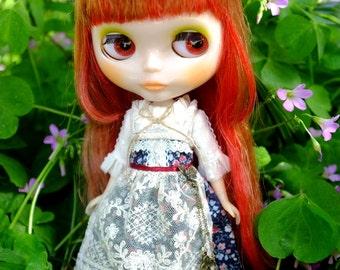 Girlish - Mori Flora Dress Set for Blythe doll - dress / outfit