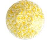ORG hand drawn yellow bowl