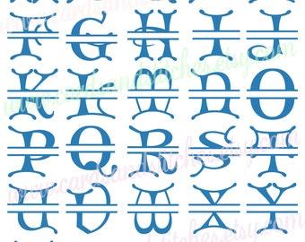 Monograms SVG - Halloween Monograms SVG - Digital Cutting File - Vector File - Instant Download - Graphic Design - Svg, Dxf, Jpg
