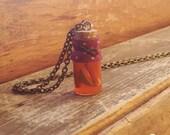 Bottle Charm Necklace- Apple Cider