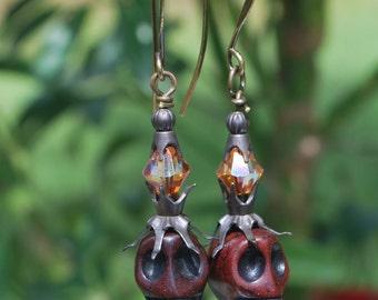 Classy skulls, halloween earrings, day of the dead earrings, fun earrings