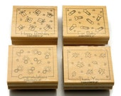 Stampin' Up Stamps - Fabulous Four - Rubber Stamp Set - Paper and Ink Stamps - Card Making Stamps - Captioned Stamps - Decorative Stamps