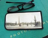 Eyeglass Case with Vintage Photo: Place de la Concorde, c. 1930