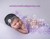 Sweet And Simple Newborn Headband READY TO SHIP Rhinestone Headband Stunning Vintage Style Newborn Photo Prop