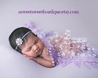 Dainty Headbands Jewel Headbands Crystal Headbands Simple Newborn Headband Baby Girl Headbands And Bows READY TO SHIP Newborn Photo Prop