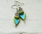 Tribal earrings of earthen colors