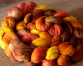 Fiber Roving 5.4 oz - 50/30/20 Alpaca/Merino/Silk - Butterscotch Candybatch