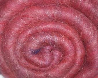 Spinning fiber batt for spinning and felting - Drum carded mixed fiber batt - Headlong Rush - 1.9 ounces