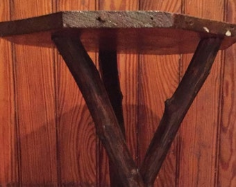 Willow Twig Table Adirondack lamp table Antique