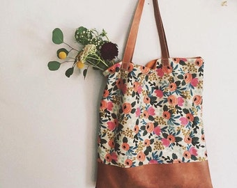 """Floral Rifle Paper Co Fabric Tote """"The Amelia"""""""